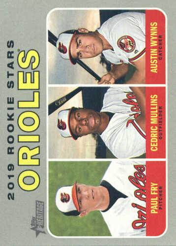 Photo of 2019 Topps Heritage #343 Cedric Mullins RC/Paul Fry RC/Austin Wynns RC