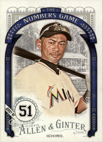Photo of 2016 Topps Allen and Ginter The Numbers Game #NG67 Ichiro Suzuki