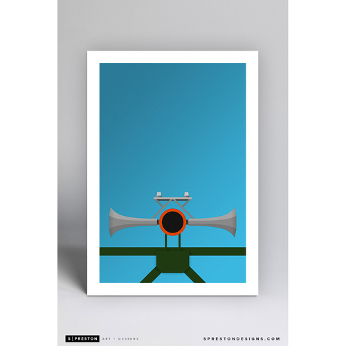 Photo of Oracle Park Foghorn - Minimalist Ballpark Art Print by S. Preston  - San Francisco Giants