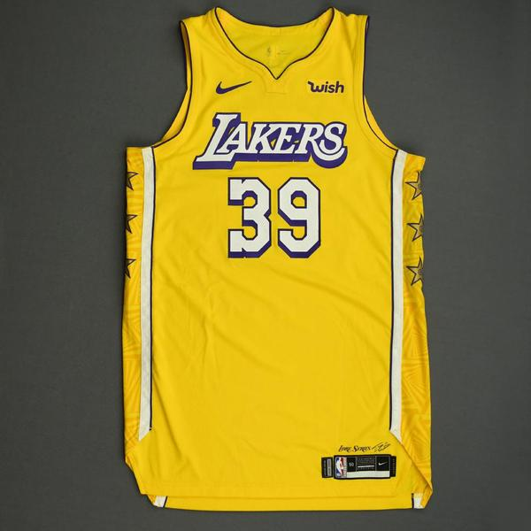 Image of Dwight Howard - Los Angeles Lakers - Christmas Day' 19 - Game-Worn City Edition Jersey