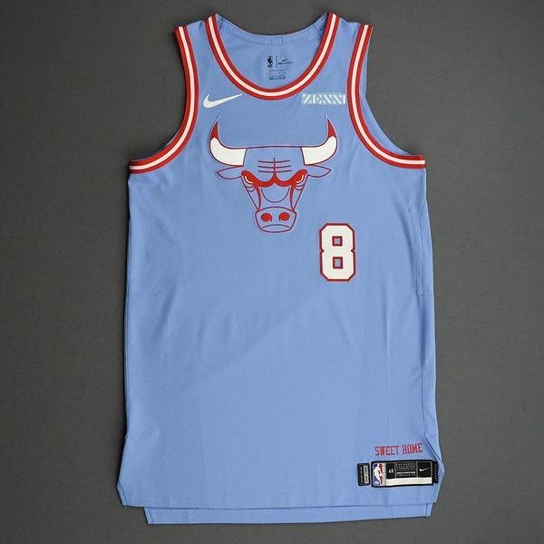 Zach LaVine - Chicago Bulls - Game-Worn City Edition Jersey - Worn ...