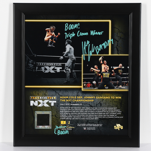 Photo of Adam Cole SIGNED custom BOOM Edition Plaque (1 of1)