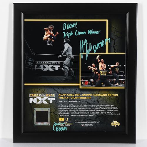 Adam Cole SIGNED custom BOOM Edition Plaque (1 of1)