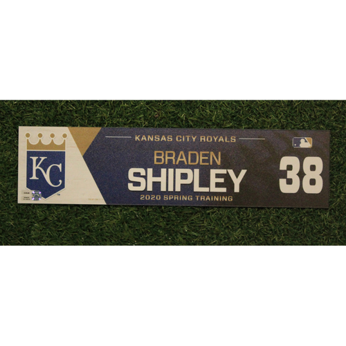 Photo of Game-Used Spring Training Locker Tag: Braden Shipley #38