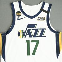 Ed Davis - Utah Jazz - Game-Worn Association Edition Jersey - Dressed, Did Not Play (DNP) - 2019-20 NBA Season Restart with Social Justice Message