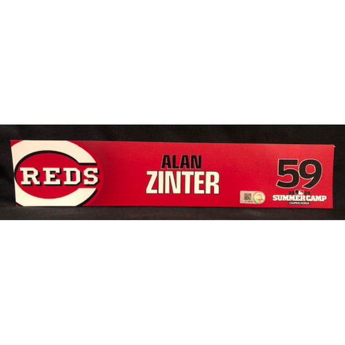 Photo of Alan Zinter -- 2020 Sumer Camp Locker Tag -- Team-Issued