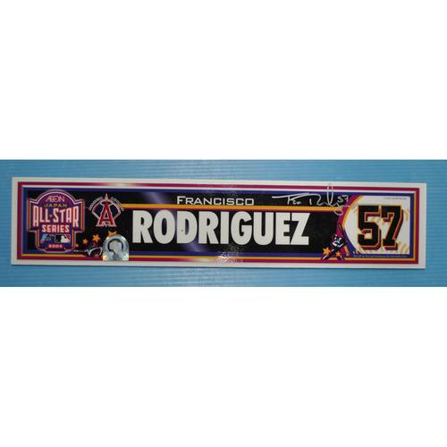 Photo of Game-Used Locker Tag - 2004 Japan All-Star Series - Angels Locker Tag - Francisco Rodriguez