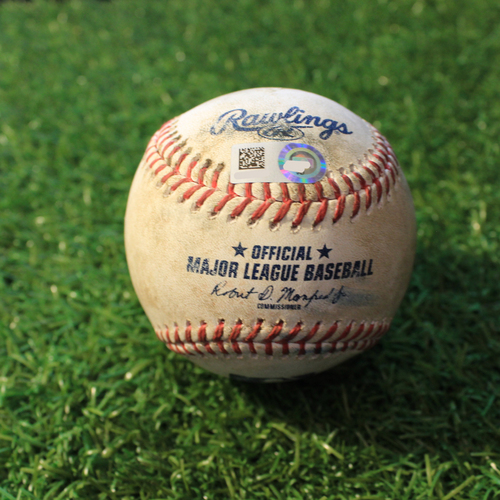 Photo of Game-Used Baseball: Jake Cave 133rd Career Hit (MIN@KC 8/21/20)