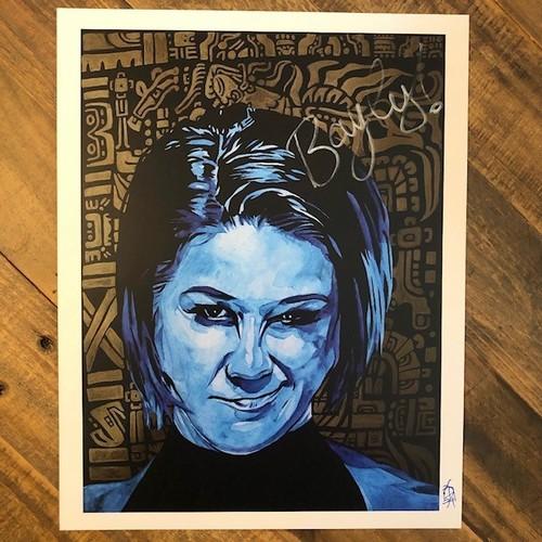 Photo of Bayley SIGNED Rob Schamberger 11 x 14 Art Print(Legendary)