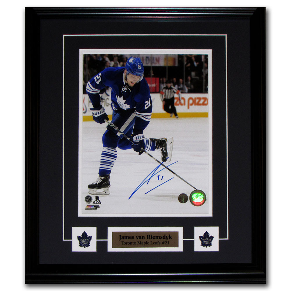 James van Riemsdyk Autographed Toronto Maple Leafs Framed 8X10 Photo