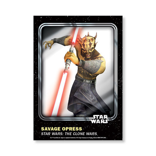 Savage Opress 2016 Star Wars Card Trader Base Poster - # to 99