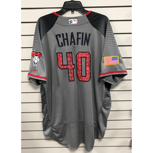Andrew Chafin Game-Used Road 4th of July Jersey