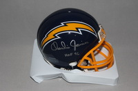 HOF - CHARGERS CHARLIE JOINER SIGNED CHARGERS MINI HELMET