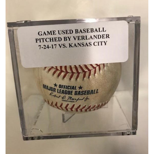 Game-Used Baseball: Pitcher by Justin Verlander to Lorenzo Cain