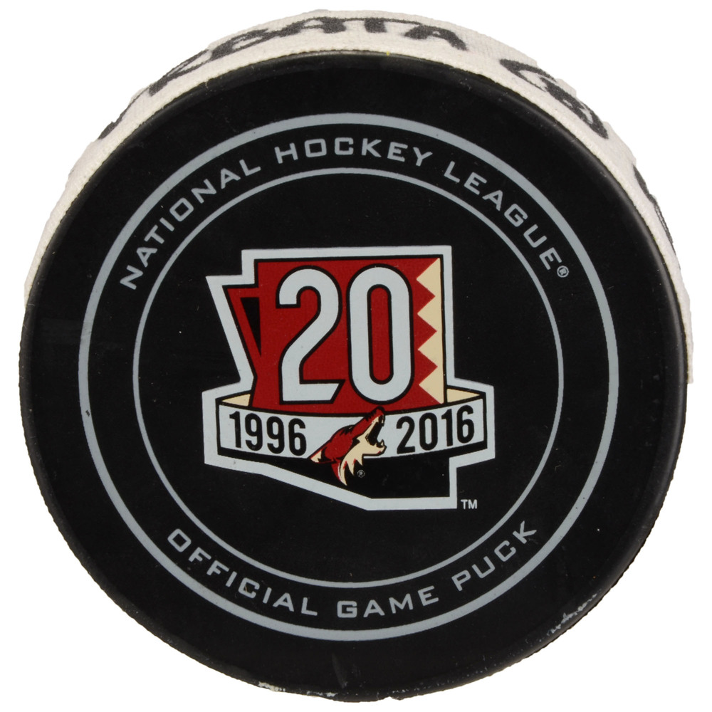 Radim Vrbata Arizona Coyotes Game-Used Goal Puck from December 3, 2016 vs. Columbus Blue Jackets