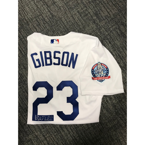 Photo of LADF Blue Diamond Gala Auction: Kirk Gibson Authentic Autographed Jersey (Size 48) - Worn during Dodgers 2018 Alumni Game