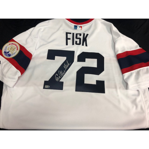 Photo of Carlton Fisk Autographed Jersey - Size 48