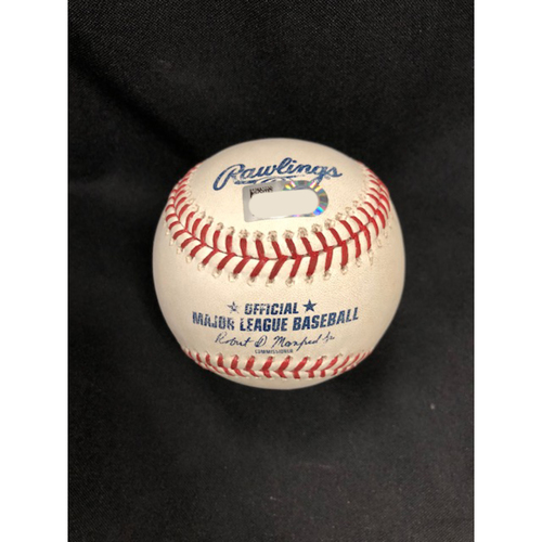 Mason Williams -- First Career Pinch-Hit Home Run -- Game-Used Baseball from Sept. 6, 2018 -- SD vs. CIN