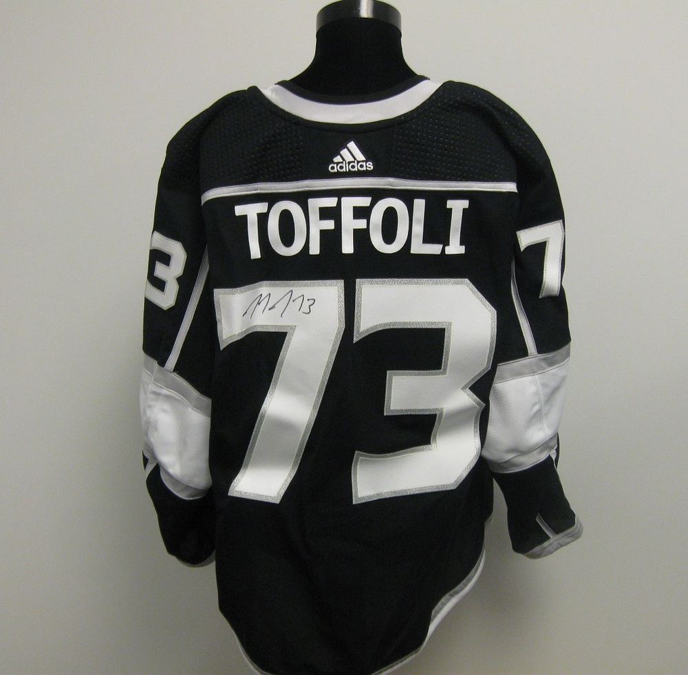 Tyler Toffoli Autographed Event Worn Jersey from 2018 Player Media Tour - Los Angles Kings