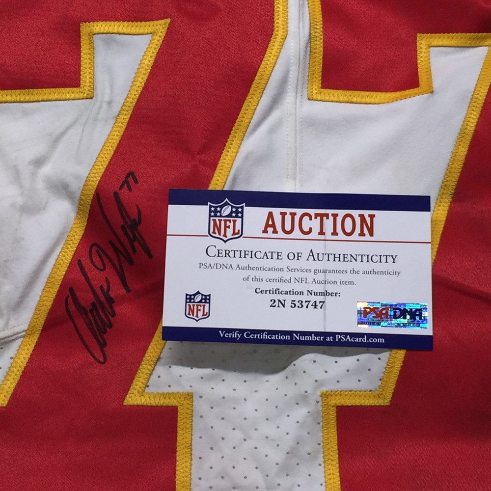 pretty nice d7d48 9641c NFL Auction | NFL - Chiefs Andrew Wylie Signed Game Used ...