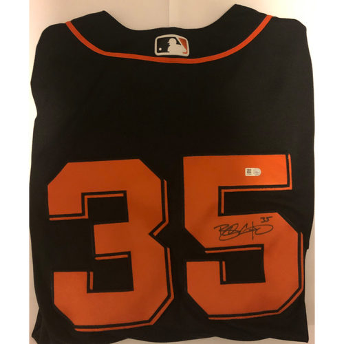 Photo of Brandon Crawford Autographed Alternate Black Giants Jersey