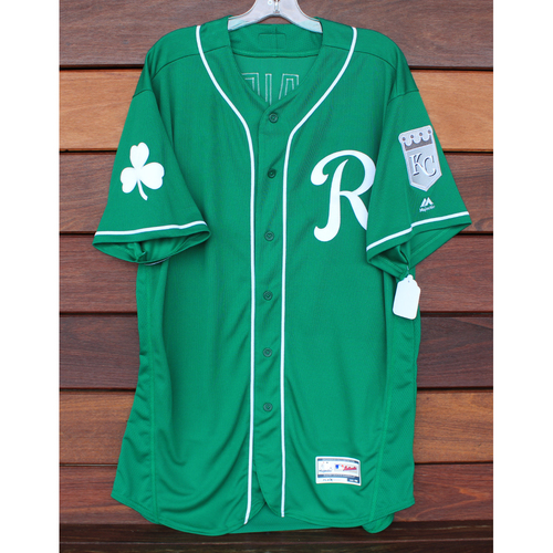 Team-Issued St. Patrick's Day Jersey: Mitch Maier (Size - 48)
