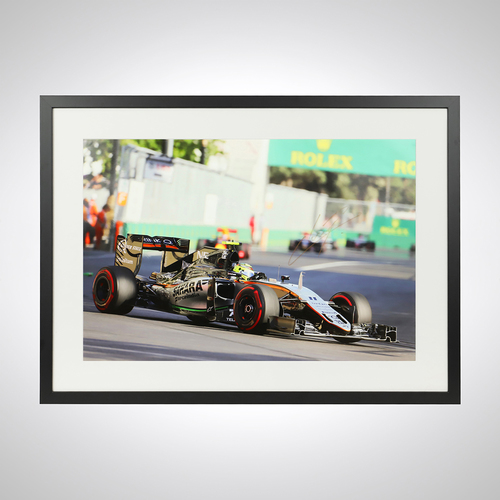 Photo of Sergio Perez 2016 Azerbaijan Grand Prix Signed Photograph - BWT Racing Point ...