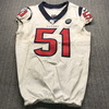 London Games - Texans Dylan Cole Game Used Jersey (11/3/19) Size 42