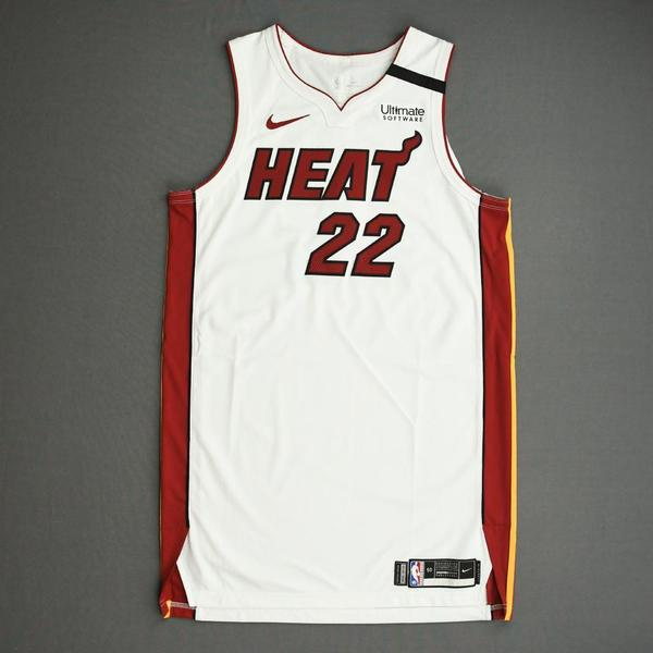 Image of Jimmy Butler - Miami Heat - Game-Worn Association Edition Jersey - Scored 22 Points - 2nd Half - 2019-20 NBA Season Restart