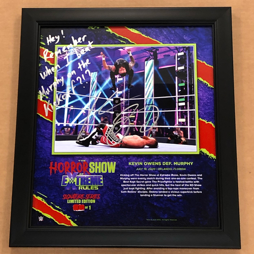 Kevin Owens SIGNED Extreme Rules 2020 Signature Series Frame (#1 of 1)
