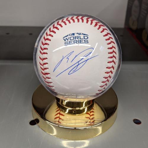 Photo of Rafael Devers Autographed 2018 World Series Baseball