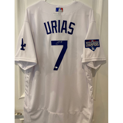 Photo of Julio Urias Autographed Authentic Los Angeles Dodgers Jersey