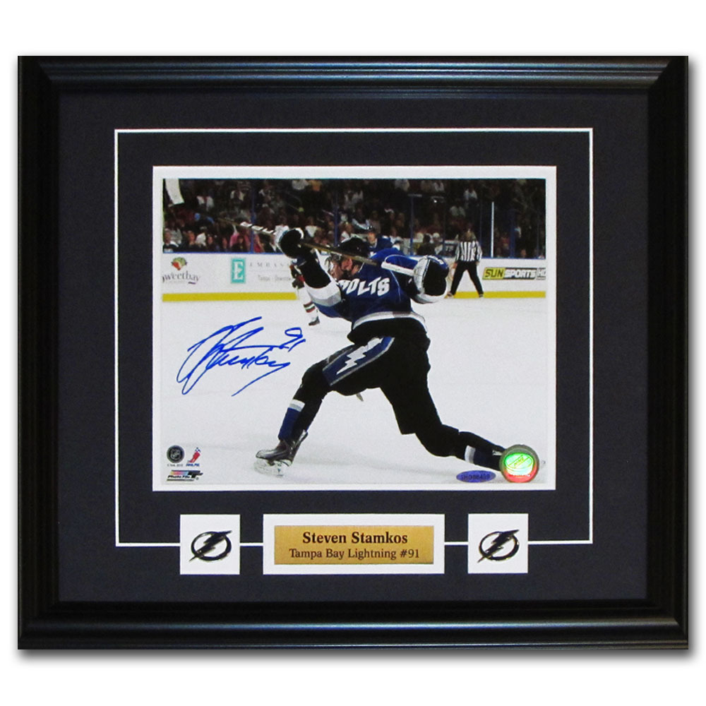 Steven Stamkos Autographed Tampa Bay Lightning Framed 8X10 Photo