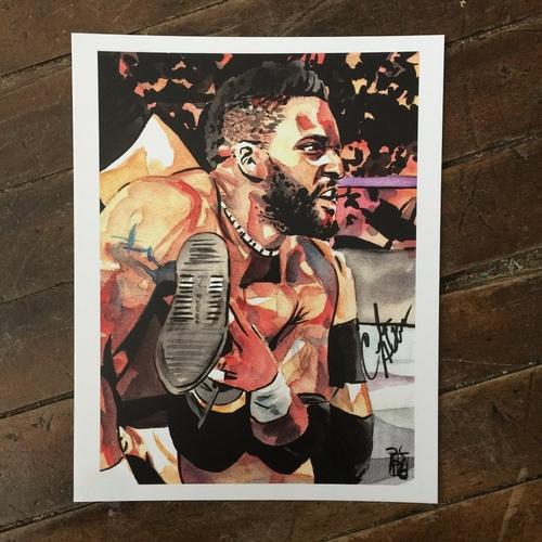 Cedric Alexander SIGNED 11 x 14 Rob Schamberger Print