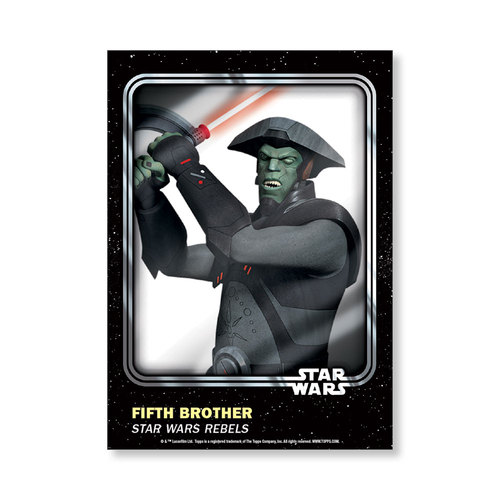 Fifth Brother 2016 Star Wars Card Trader Base Poster - # to 99
