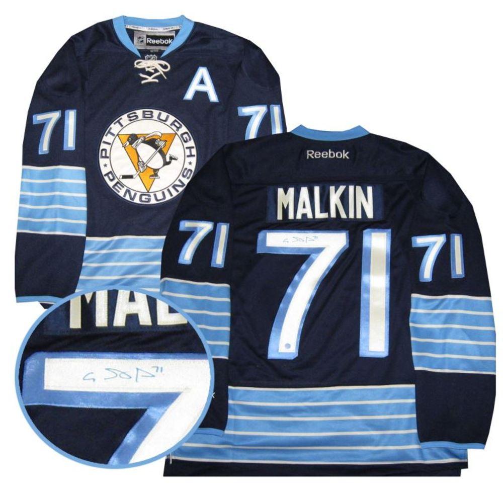 Evgeni Malkin - Signed Pittsburgh Penguins Blue 3rd Jersey