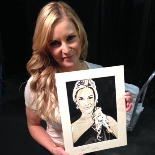 Renee Young Signed Painting by Rob Schamberger