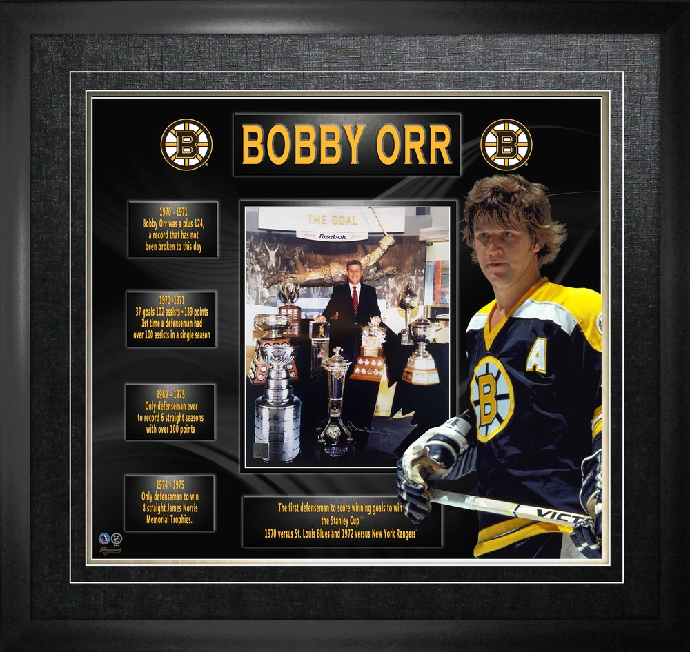 Bobby Orr - Signed & Framed 11x14