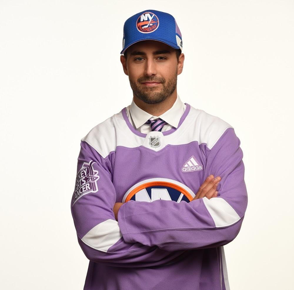 Jordan Eberle 2017 HFC Player Cap from Player Media Tour - New York Islanders