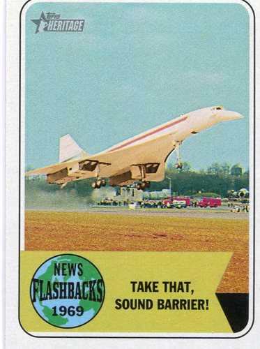 Photo of 2018 Topps Heritage News Flashbacks #NF6 Concorde Test Flight