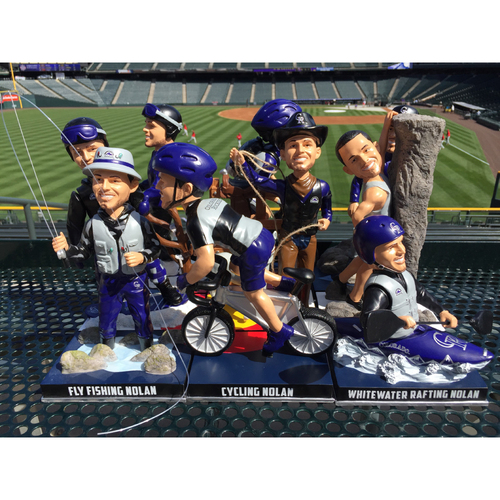 Photo of Nolan Arenado Colorado Life Style Bobblehead Set - Matching Numbers
