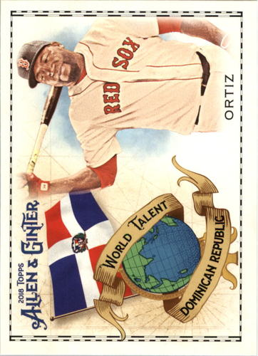 Photo of 2018 Topps Allen and Ginter World Talent #WT17 David Ortiz