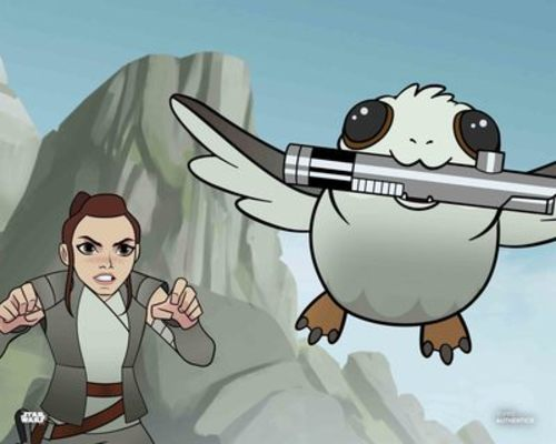 Rey and Porg