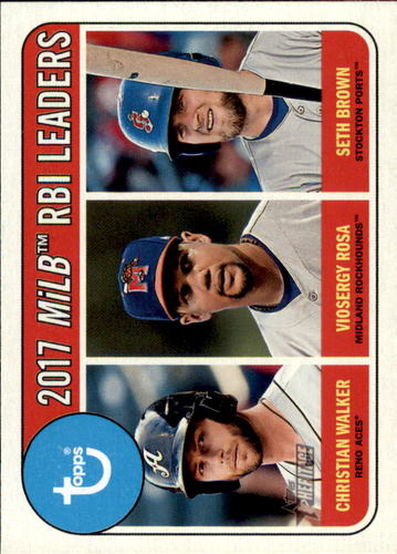 Photo of 2018 Topps Heritage Minors #194 Seth Brown/Viosergy Rosa/Christian Walker