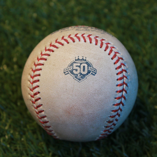Photo of Game-Used Baseball: Johnny Field 10th Career Double (MIN @ KC - 9/16/18)