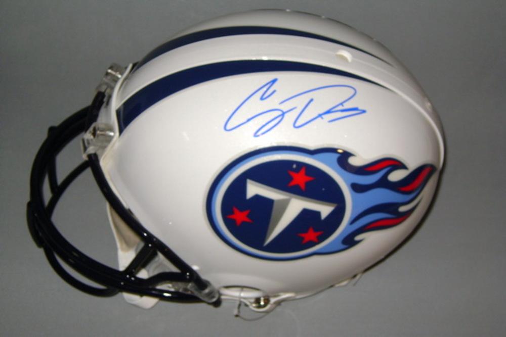 NFL - TITANS COREY DAVIS SIGNED TITANS PROLINE HELMET