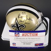 HOF - Saints Rickey Jackson Signed Mini Helmet