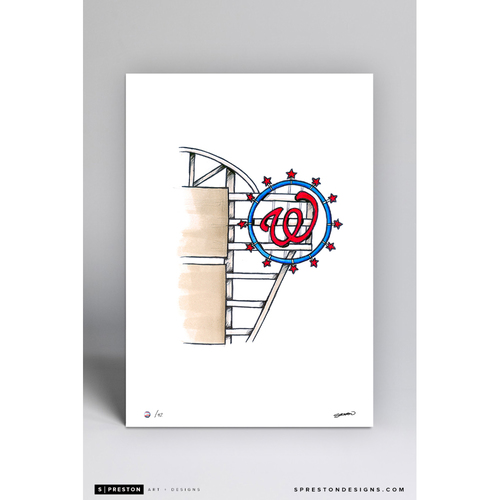 Photo of Nationals Park Sketch - Limited Edition Print 2/42 by S. Preston