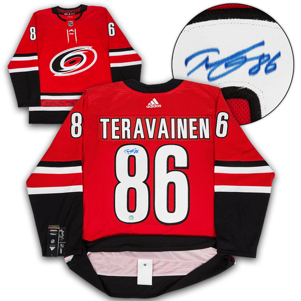 Teuvo Teravainen Carolina Hurricanes Autographed Adidas Authentic Hockey Jersey