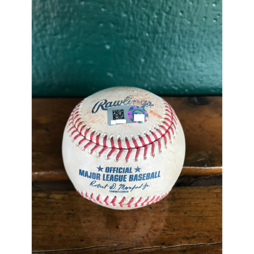 Photo of Cardinals Authentics: Game Used Baseball Pitched by Miles Mikolas to Kris Bryant (Single)